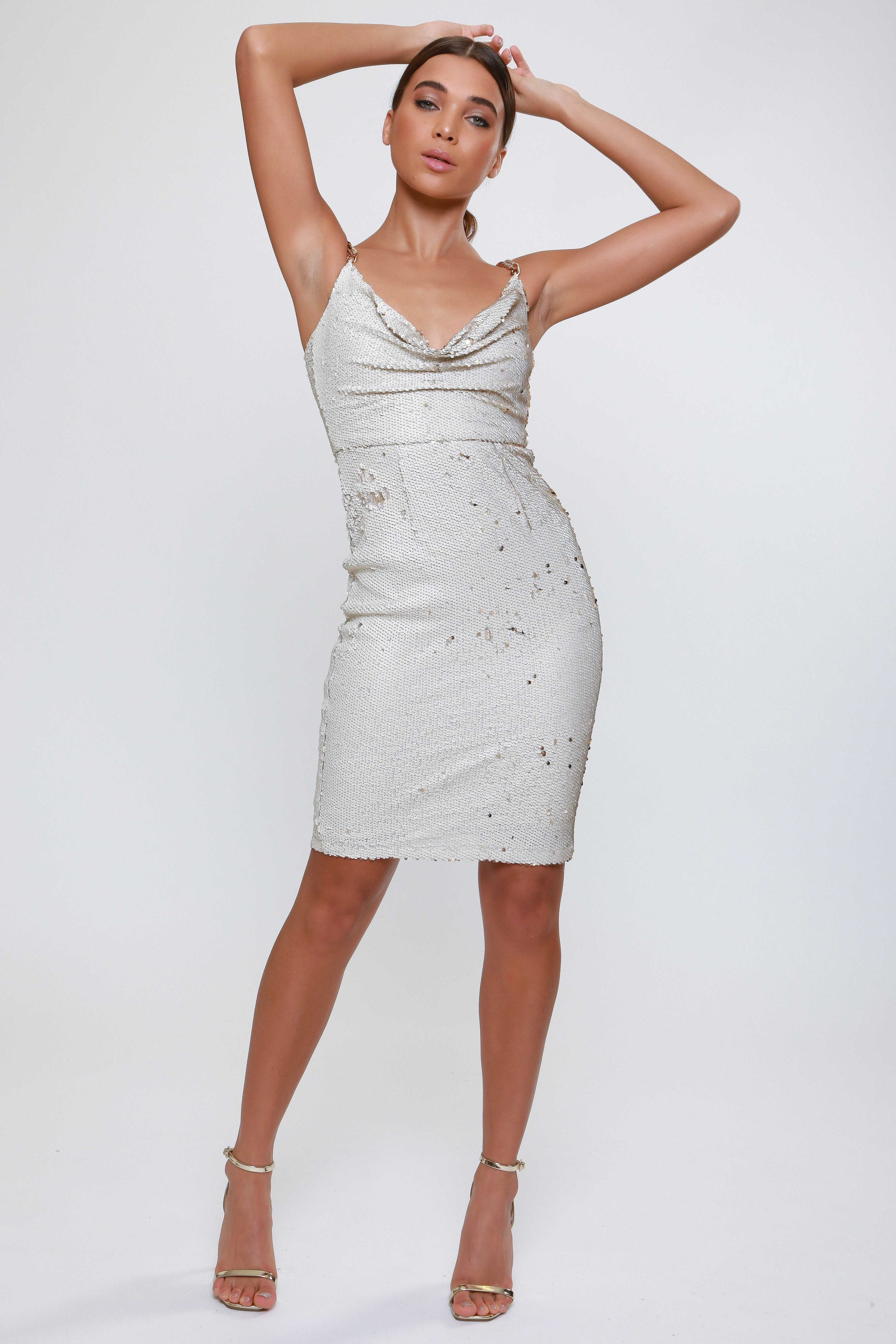 Sequin Cowl  Midi Dress   £62.00