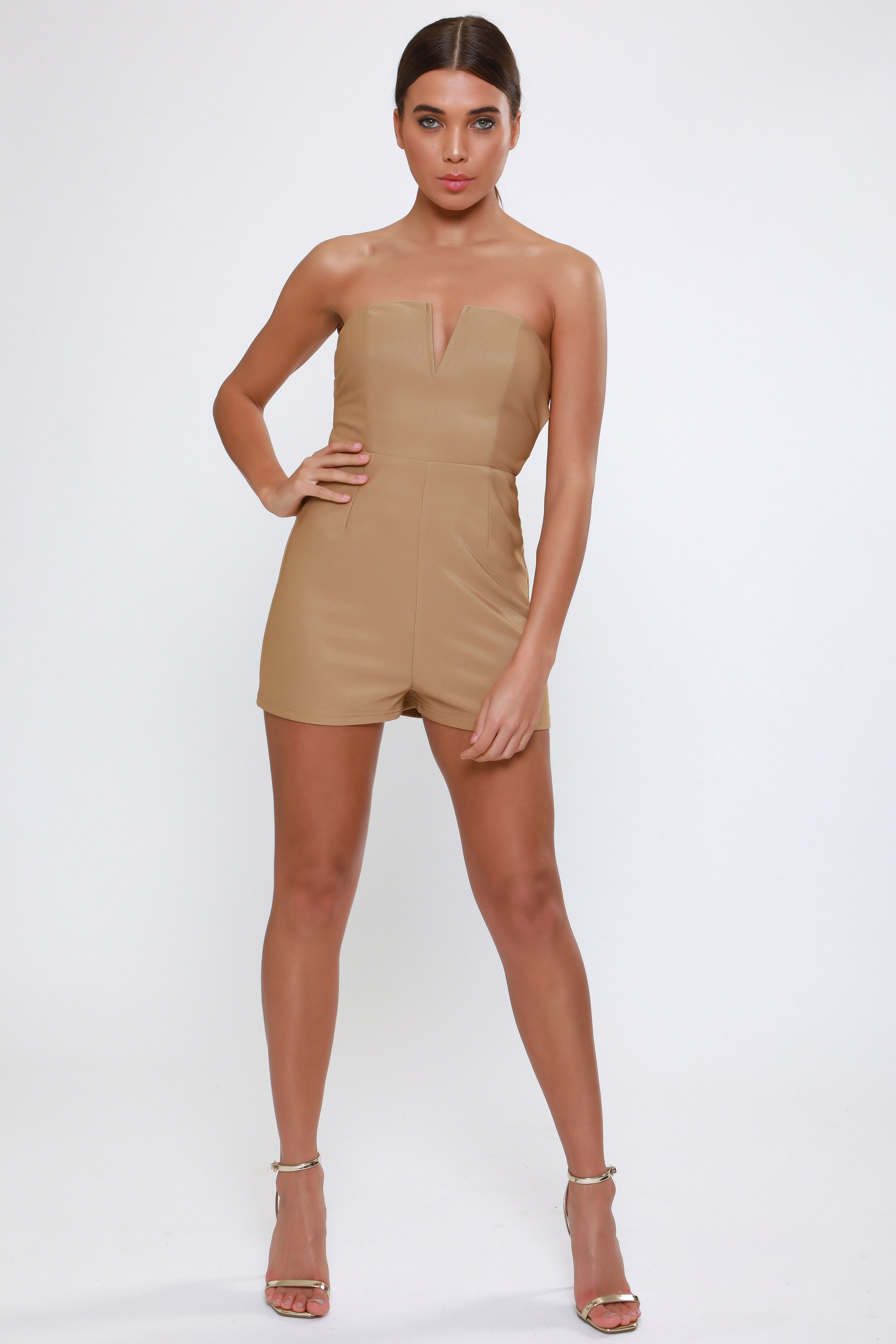 Plunge Playsuit with  Gold Hardware   £55.00