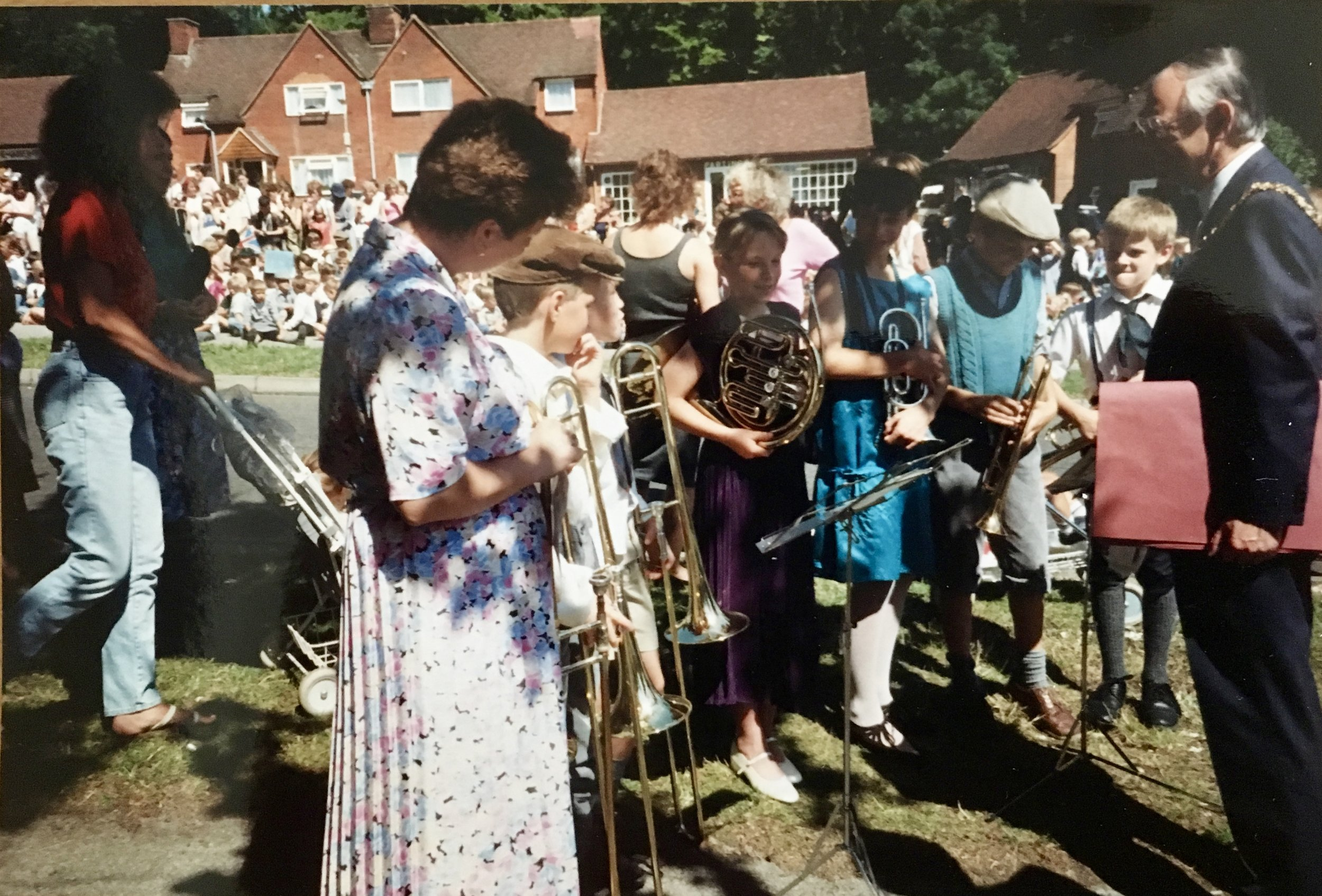 Stanmore Jubilee Day, 14 July 1989 Meeting the Mayor of Winchester at the tree planting ceremony