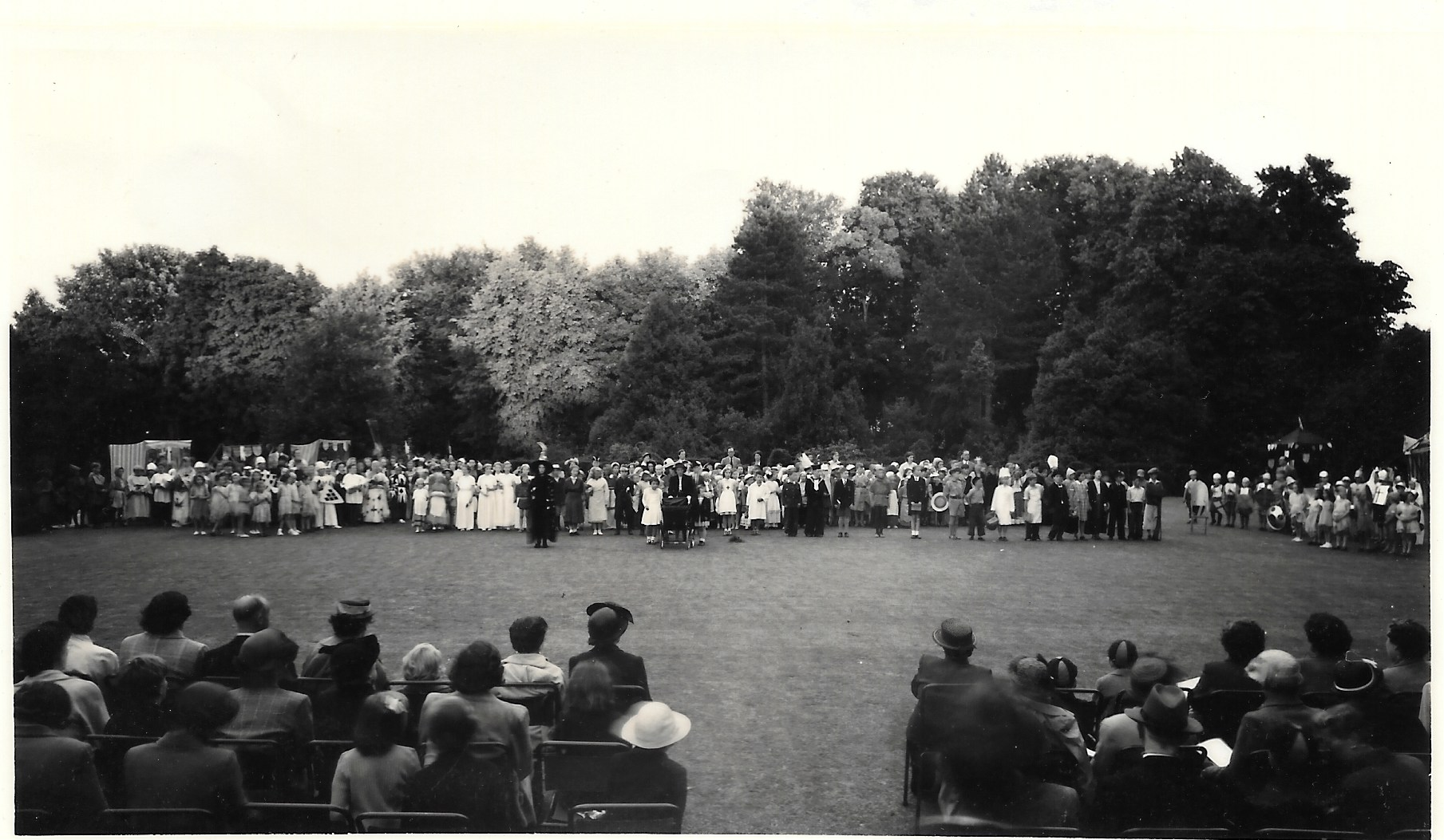 A photo of the Coronation Pageant June 1953 stuck at the back of the programme