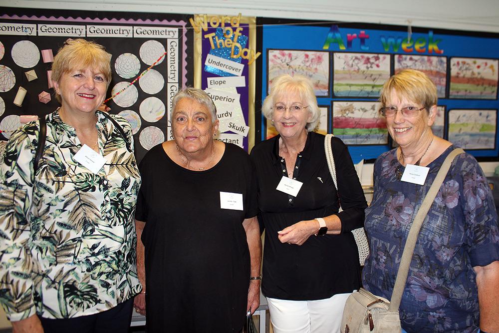 Ex-pupils: Alison Gomer, Jennifer Tubb, Marilyn Monger, Penny Cossburn