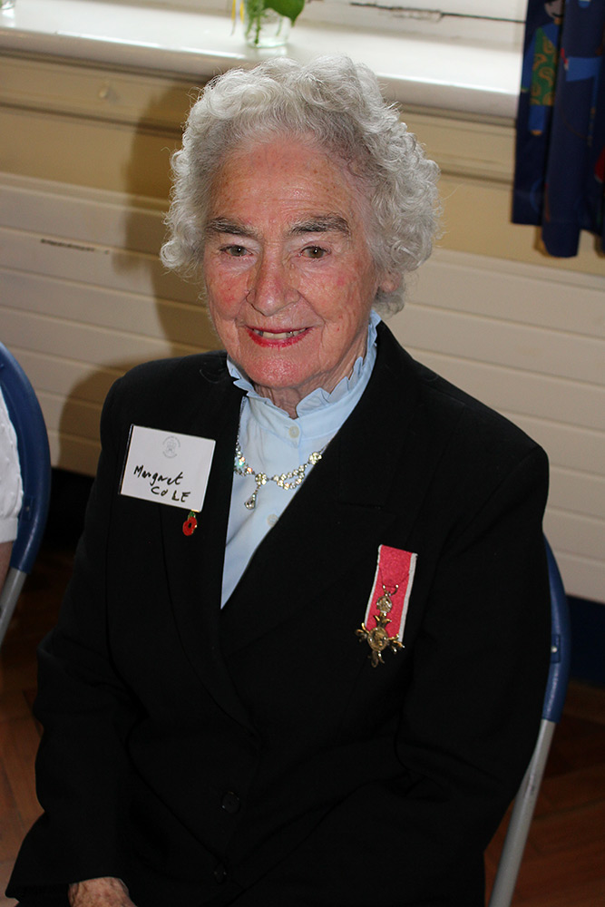 Mrs Margaret Cole MBE