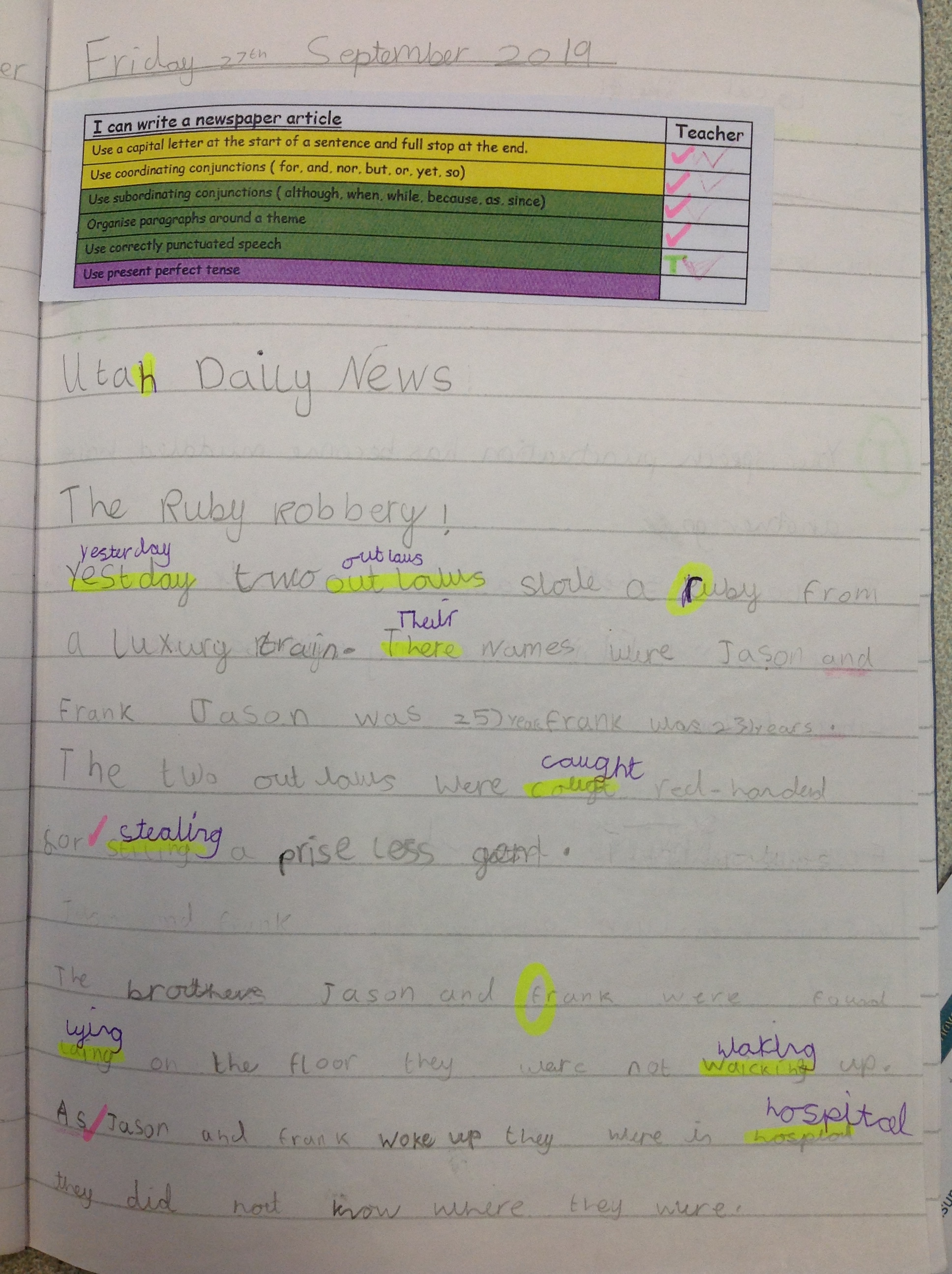A news report by Evie