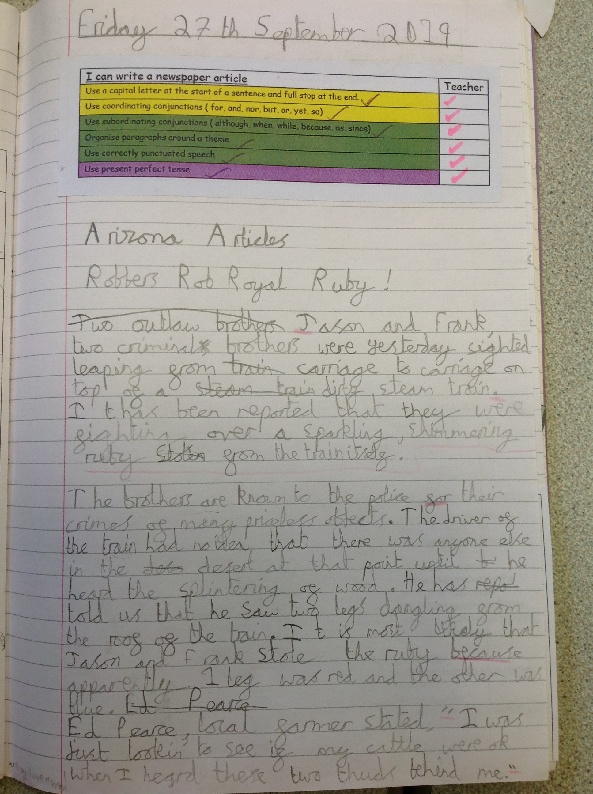 A news report by Ed