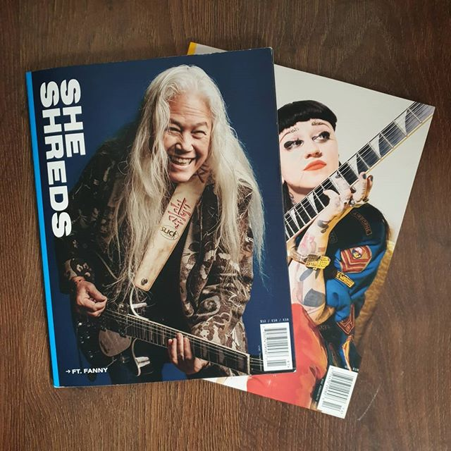 We have the most recent 2 issues of @sheshredsmag in stock and they're both fantastic reads. Featuring Fanny, Nai Palm, plus loads of other great features, tabs and gear chat! Pick up a copy from our online store today 🤘