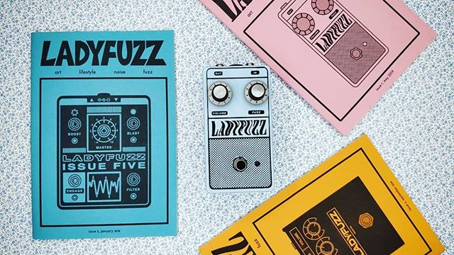 Shoutout to @amateur_effects_reviews for this very aesthetically pleasing shot of our most recent 3 zines and our Ladyfuzz Fuzz Pedal and a great review of the pedal its self. If you picked up a pedal let us know what you think, and share your set up with us!⁠ ⁠ Pick up all 4 of these things from our webstore at ladyfuzz.bigcartel.com 💛