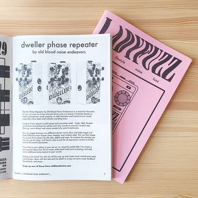 We have been loving the Dweller pedal by @oldbloodnoise it's been a staple on our board to create some really interesting sounds. Check out our review of it in issue 7! 🎛