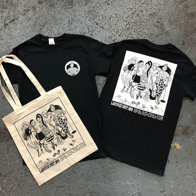 We still have some of these shirts and totes designed by the great @jessicasharvilleillustration on sale at 50% off in our online store. Sizes S to 3XL. Grab one from ladyfuzz.bigcartel.com 💙