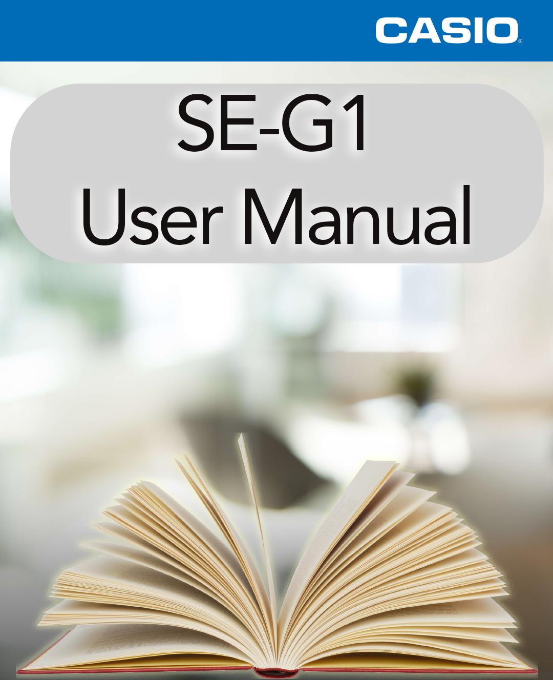 Casio SE-G1 User Manual
