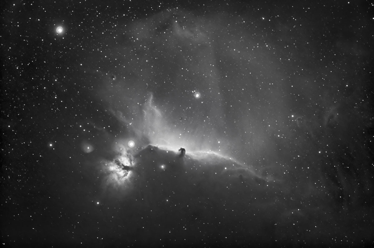 Horsehead and Flame Nebulae in Orion Constellation