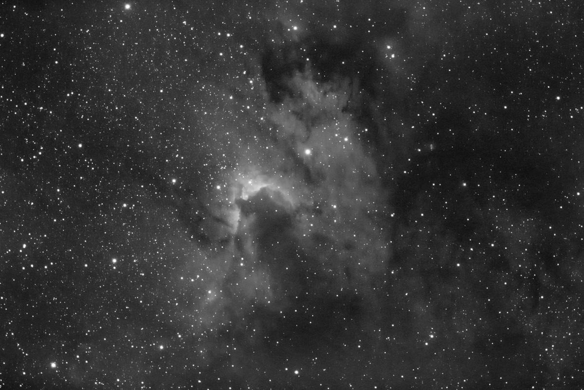 Cave Nebula: Sh2-155 in Hydrogen Alpha light