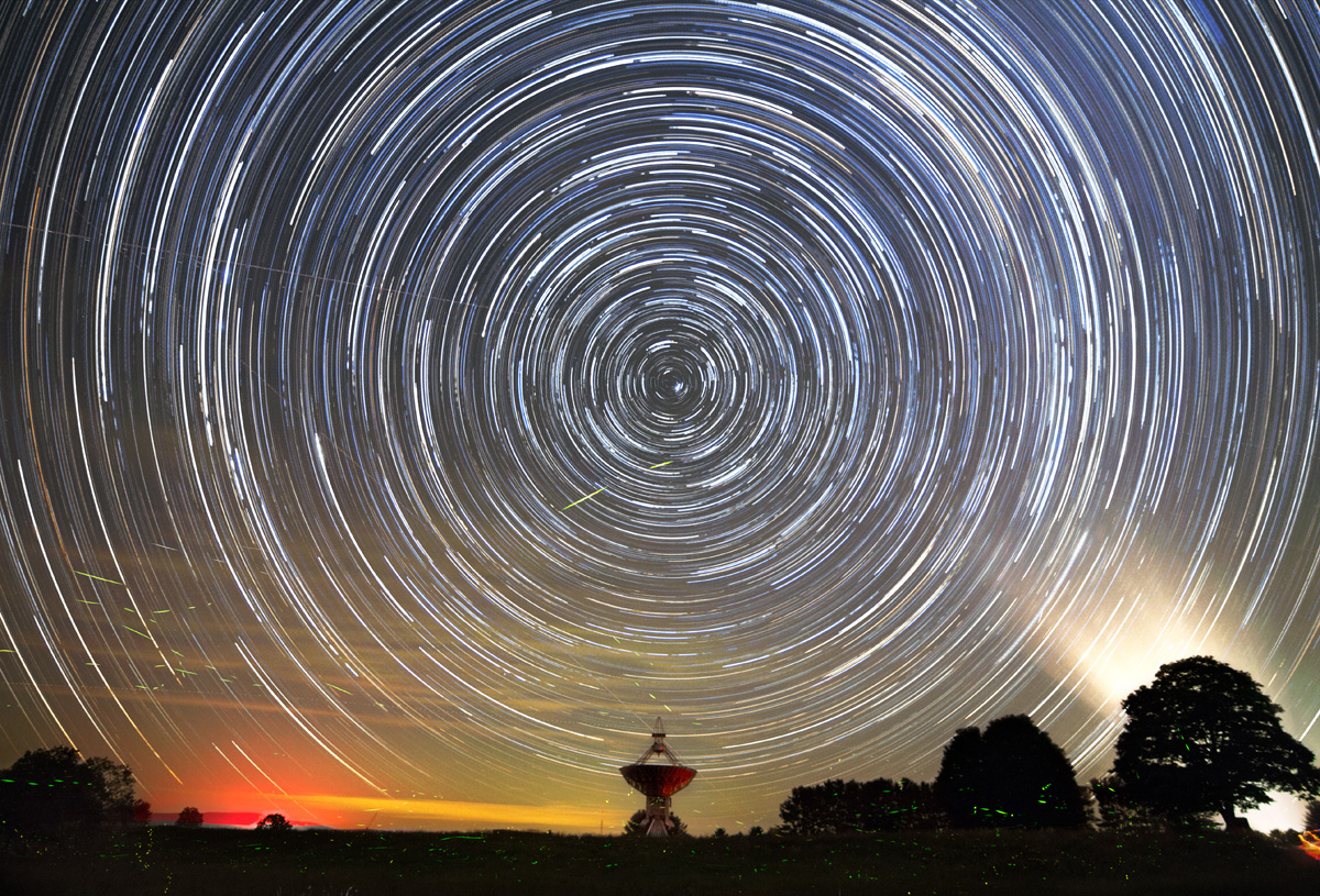 Fireflies, Star Trails, and Telescope at Green Bank