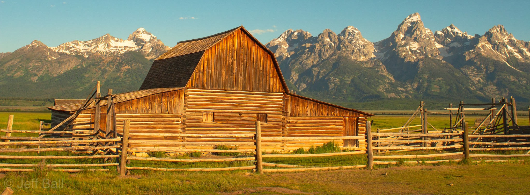 Mormon Barn and Grand Tetons