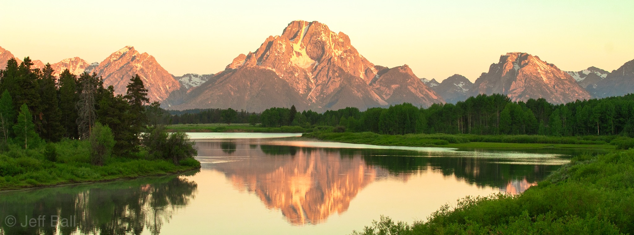 Mt. Moran and Snake River