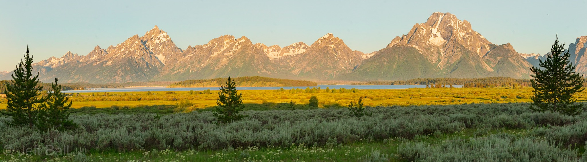 Jackson Lake and Tetons