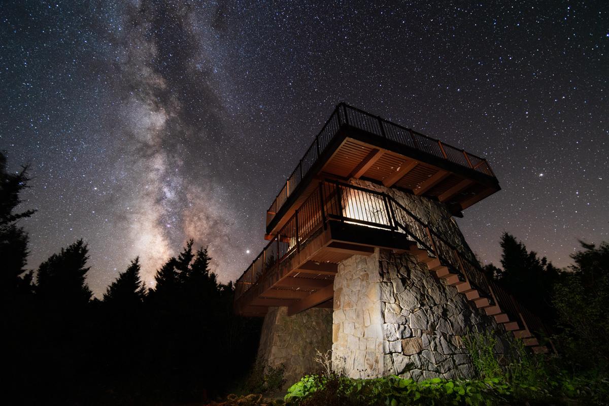 Spruce Knob Tower Milky Way 2019