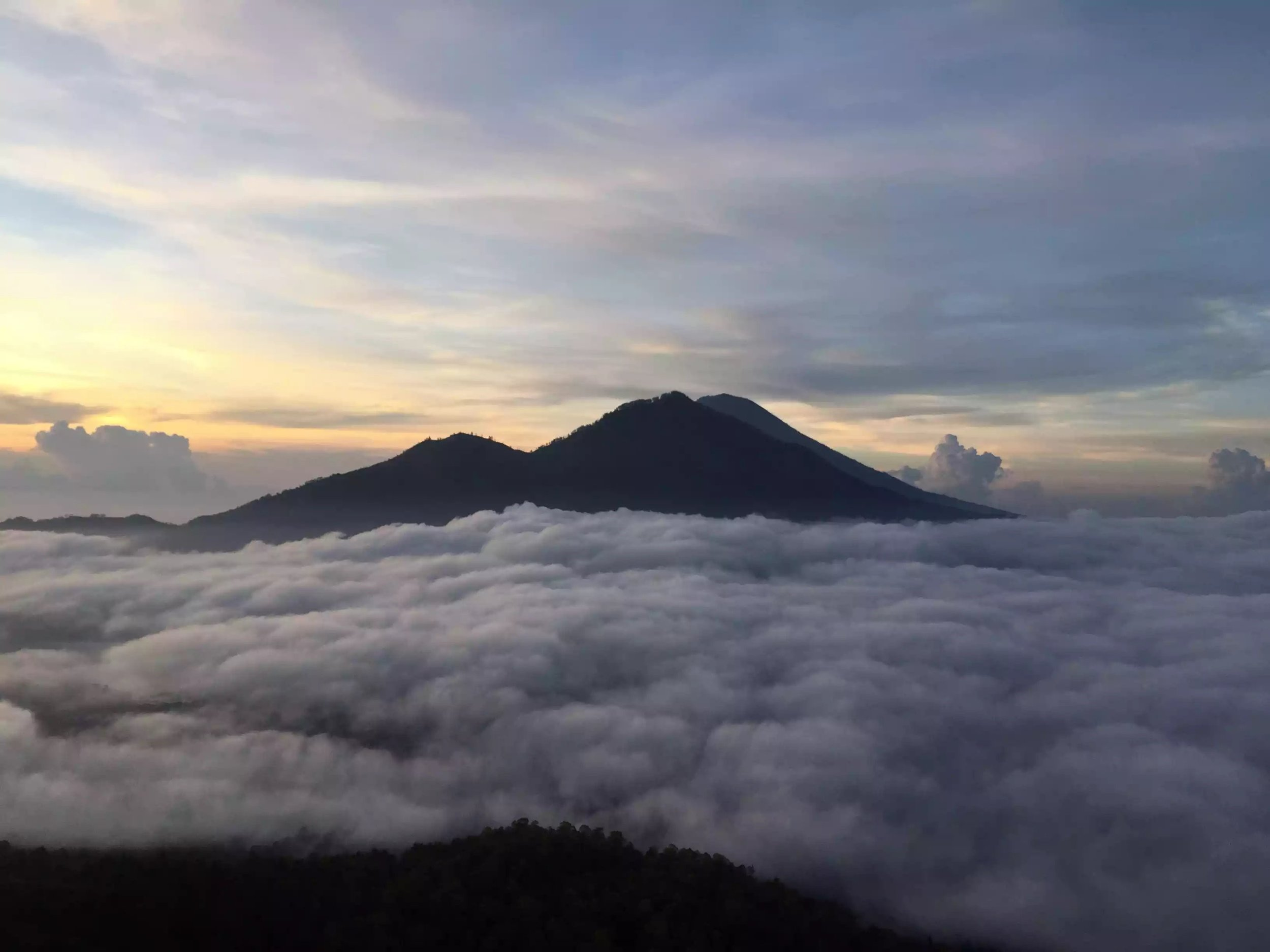 The view from the top of Mount Batur