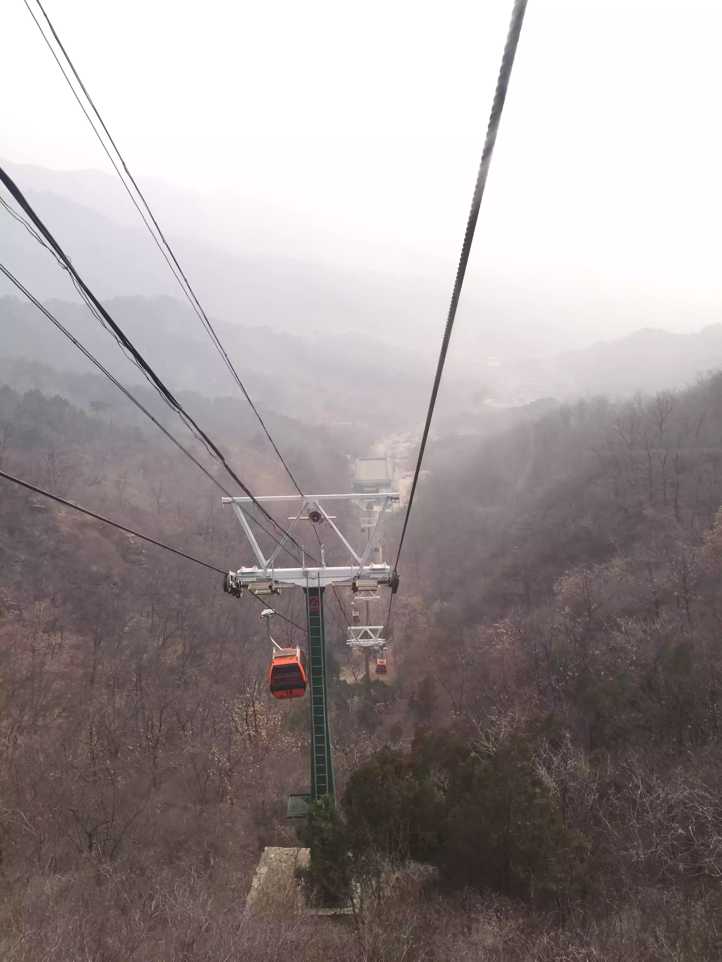 Cable car going up.