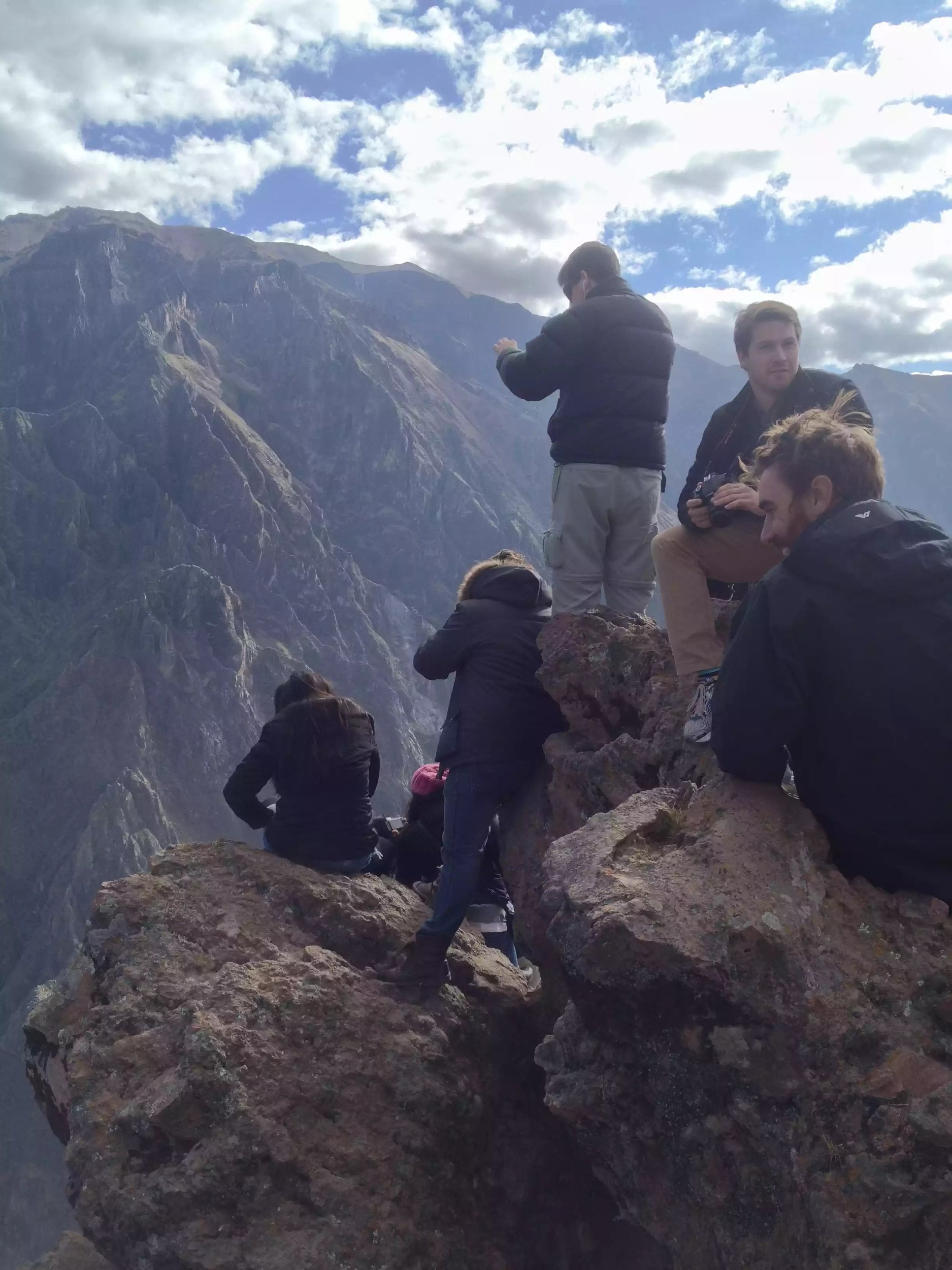 Sitting on the edge of the worlds deepest canyon.