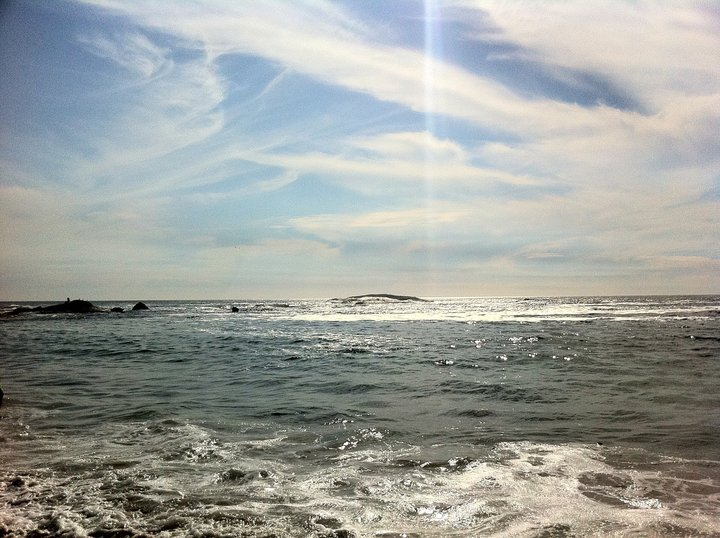 The mighty Atlantic Ocean.