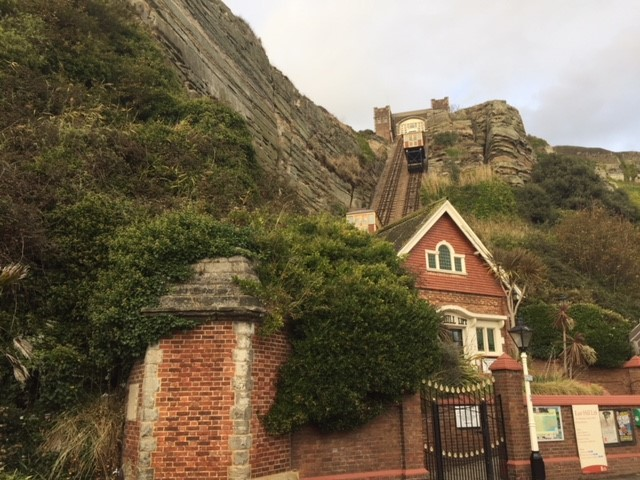 East Cliff lift. The UK's tallest funicular train.