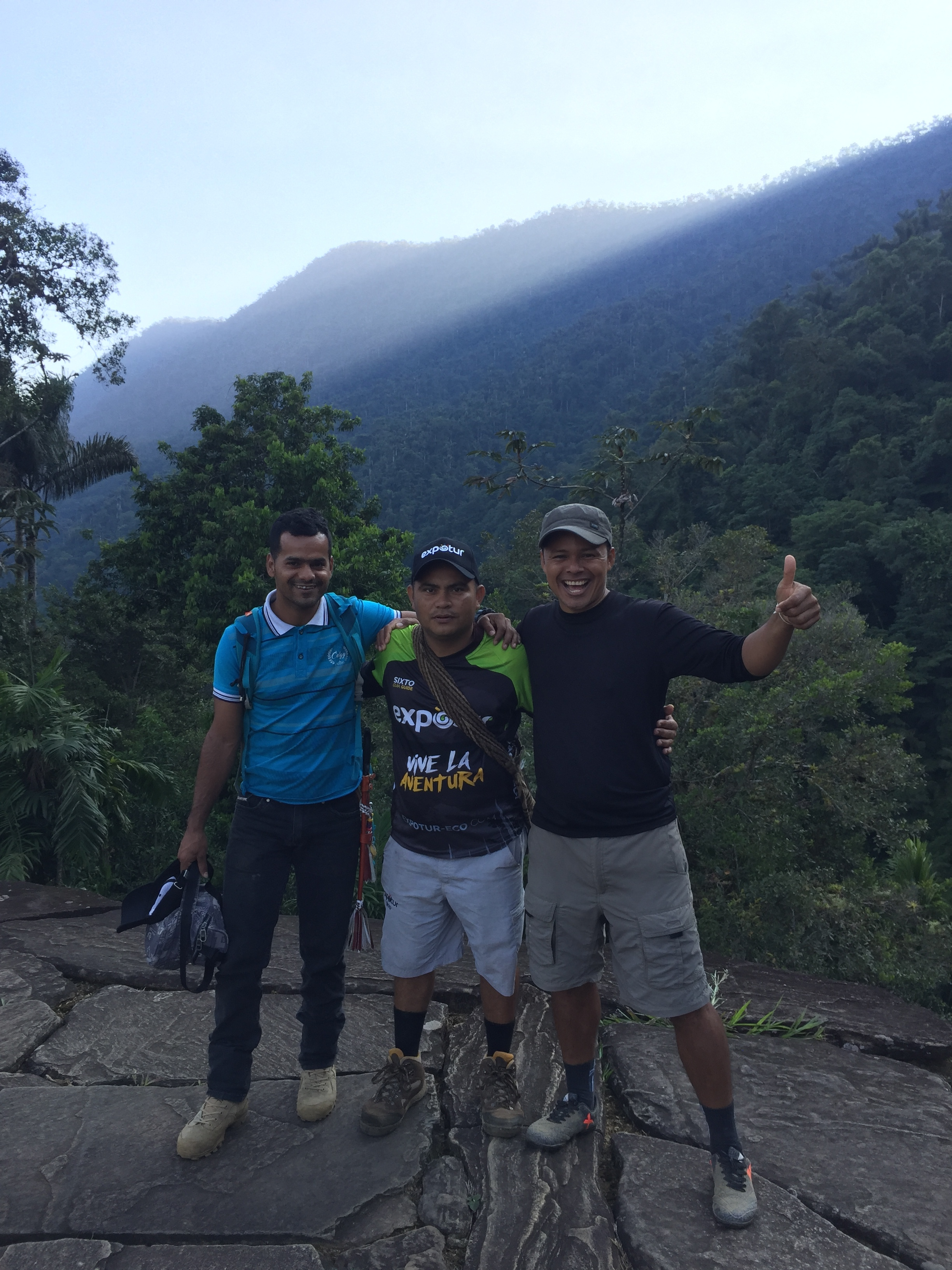 Our amazing guides, from left to right - Louis, Sixto & Isidro.