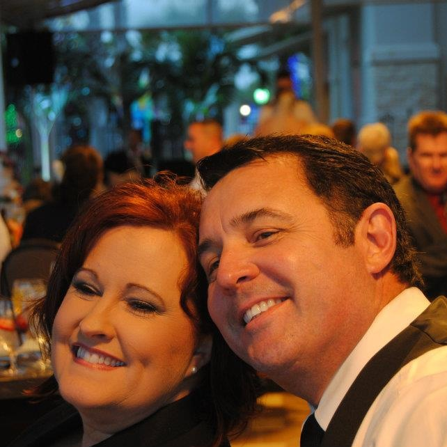 Howard and his wife Debbie at his daughter Eryn's wedding.