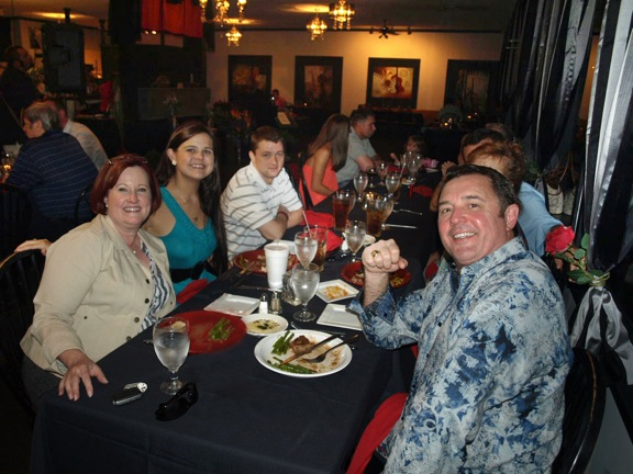 Howard and family enjoy the Boys and Girls Club dinner after receiving the Jeremiah Milbank Society Award
