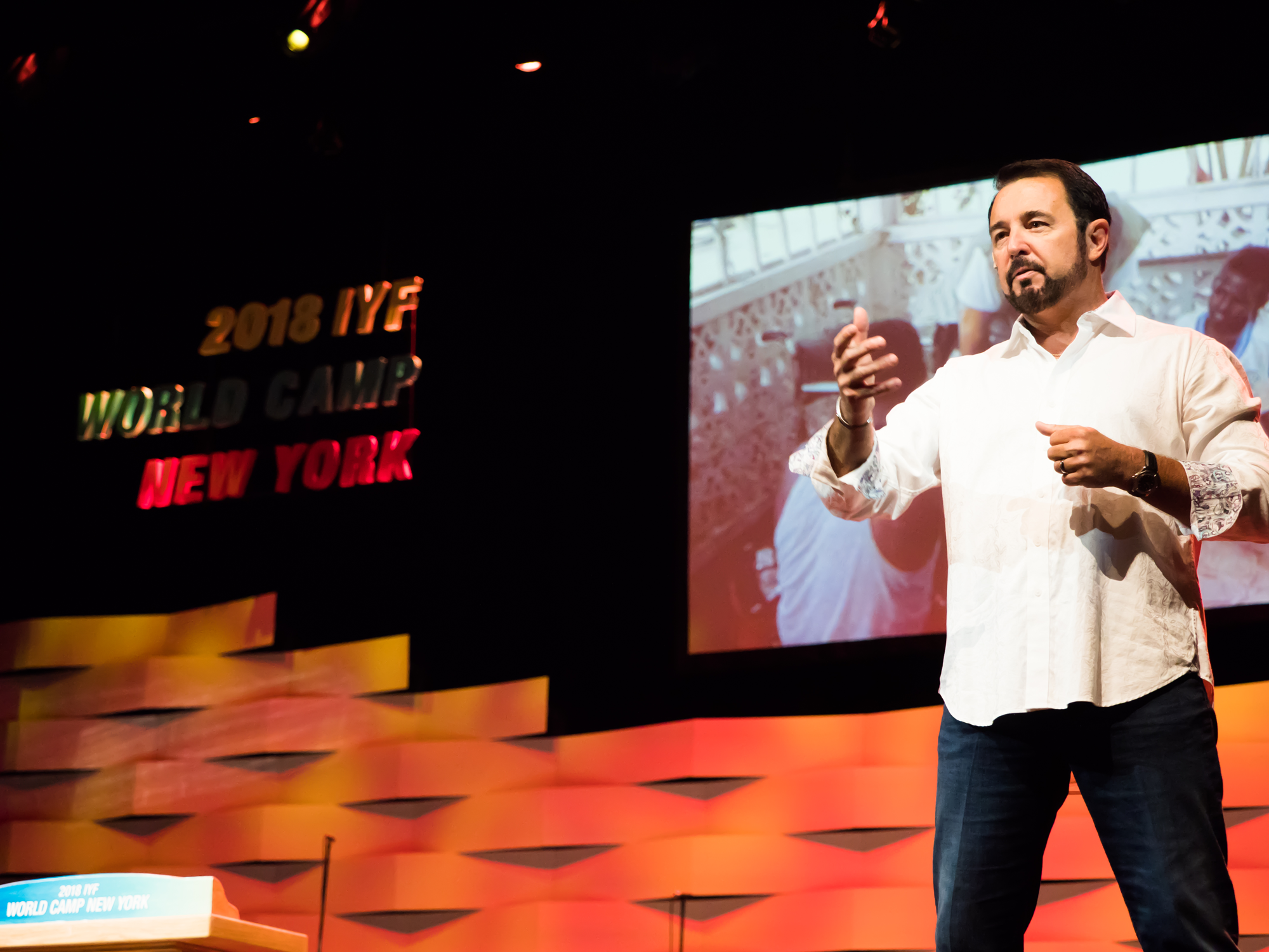Howard speaks to 1,500 of tomorrow's leaders at the International Youth Fellowship in New York City