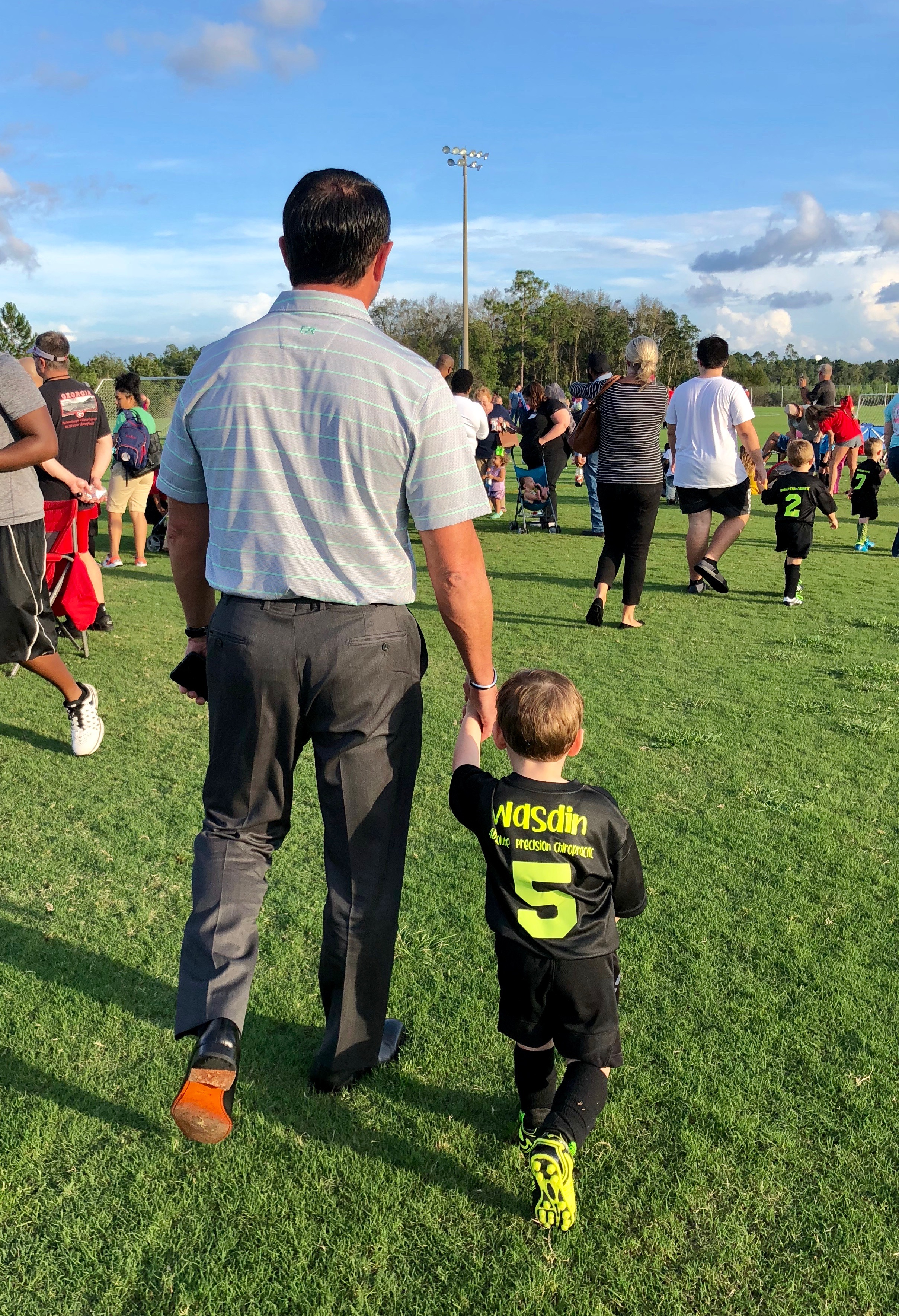"""Howard and grandson """"Banks"""" take the field"""