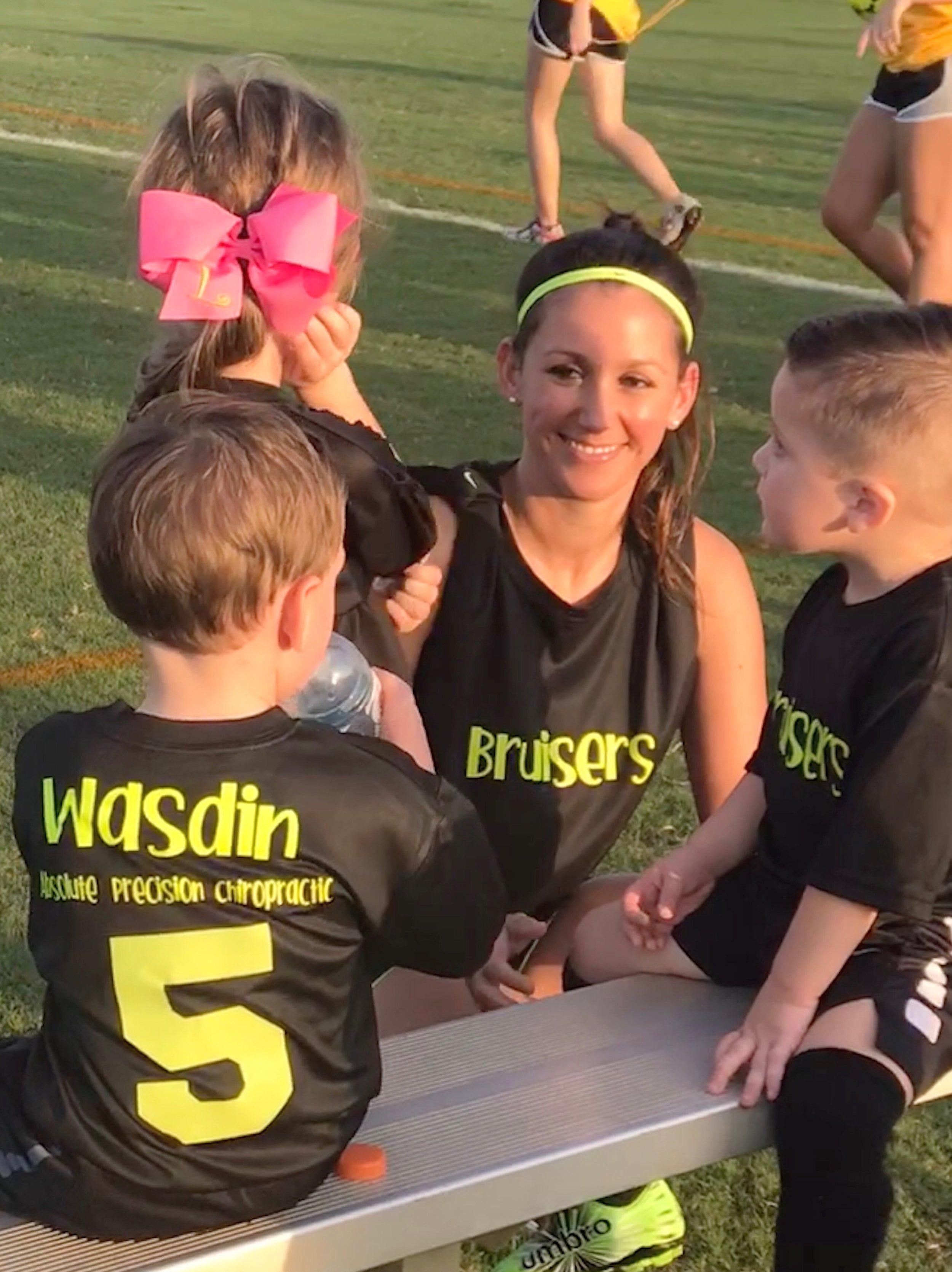 Coach Jordan (daughter-in-law) rallies the troops