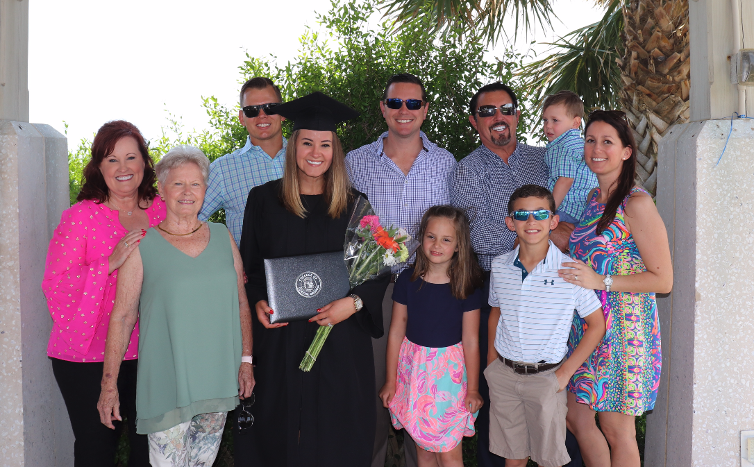 My family and I enjoying graduation day.