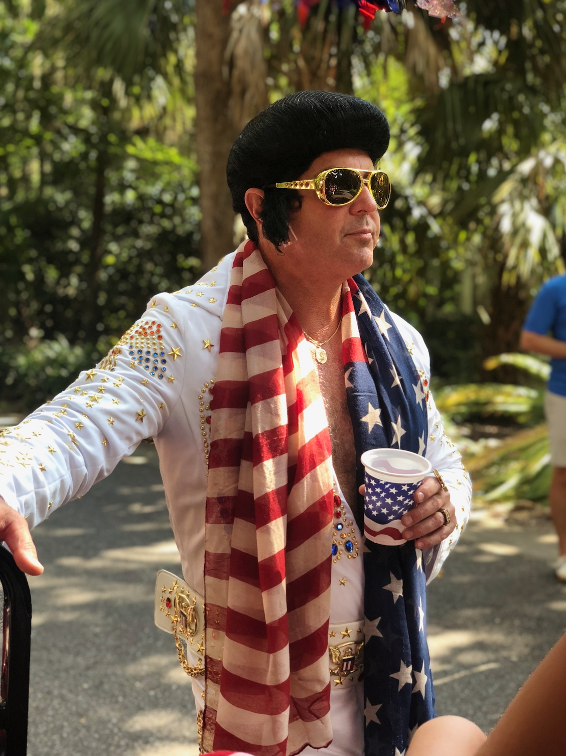 Celebrating America with the King, yours truly!
