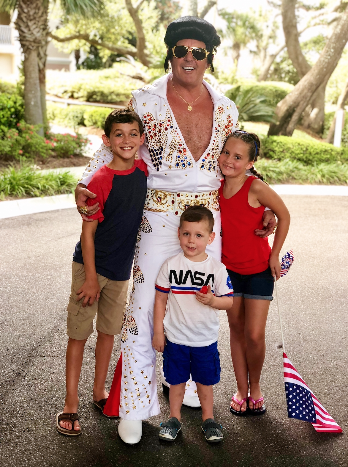 Joining the kiddos for the fourth parade 2019