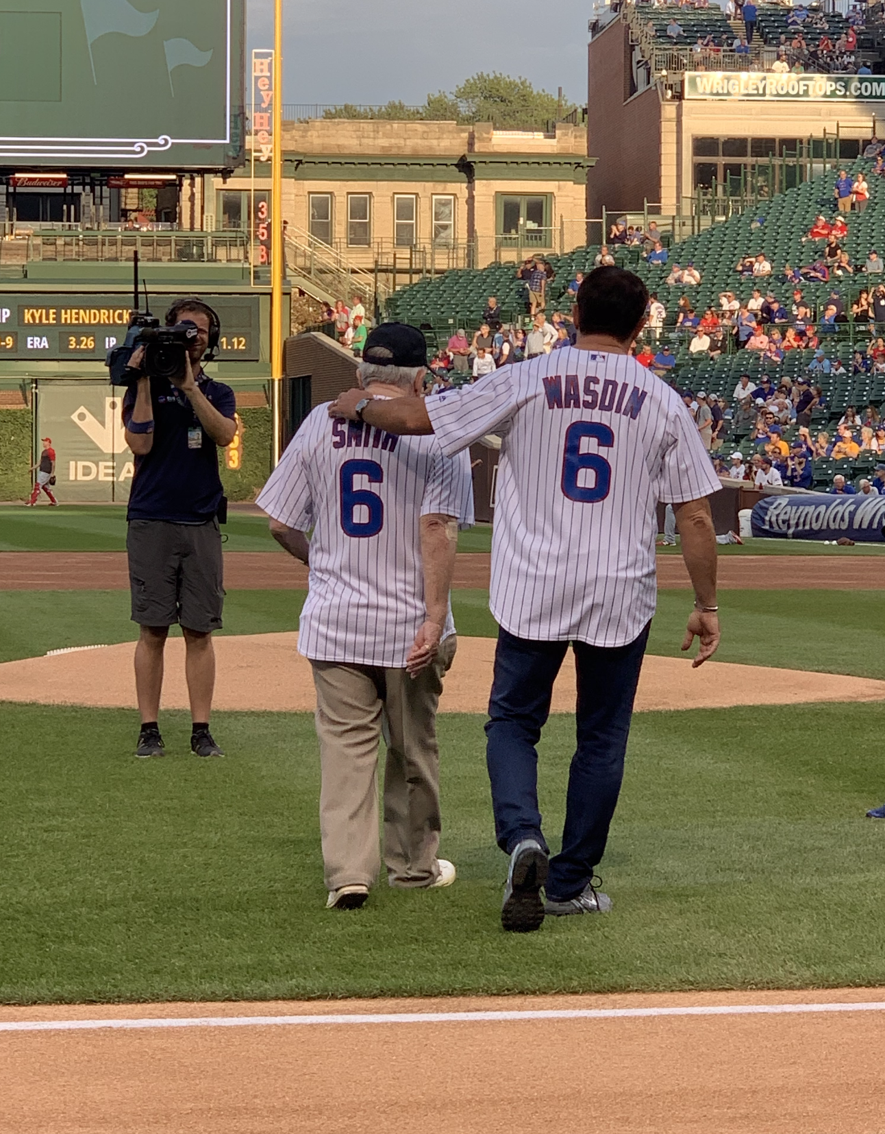 Howard is joined by his Uncle and WWII Vet to throw out the first pitch