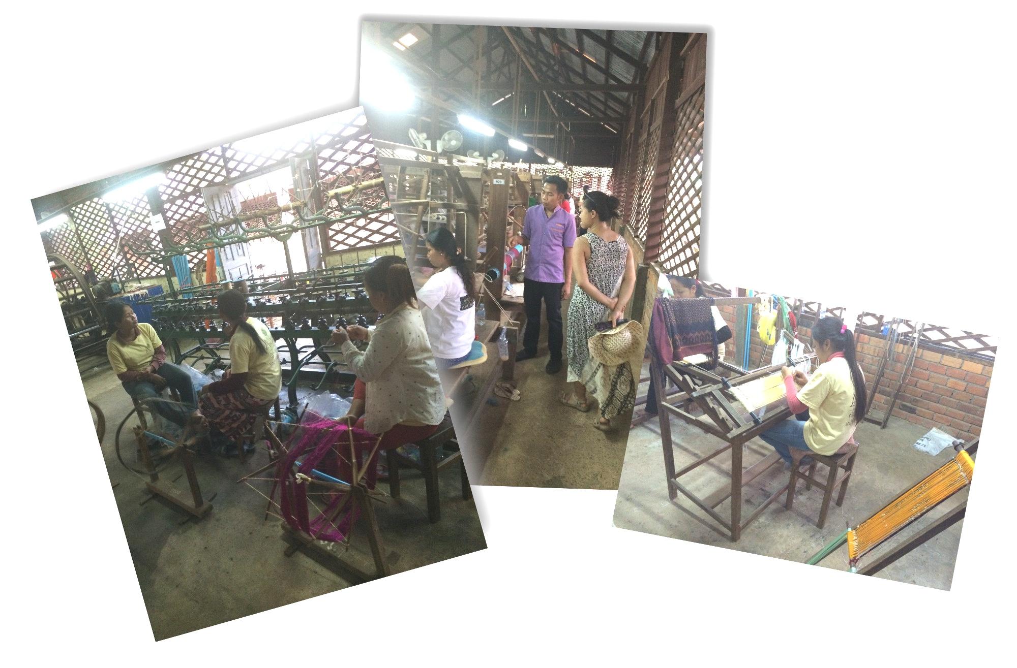 Visite dans l'atelier de soie