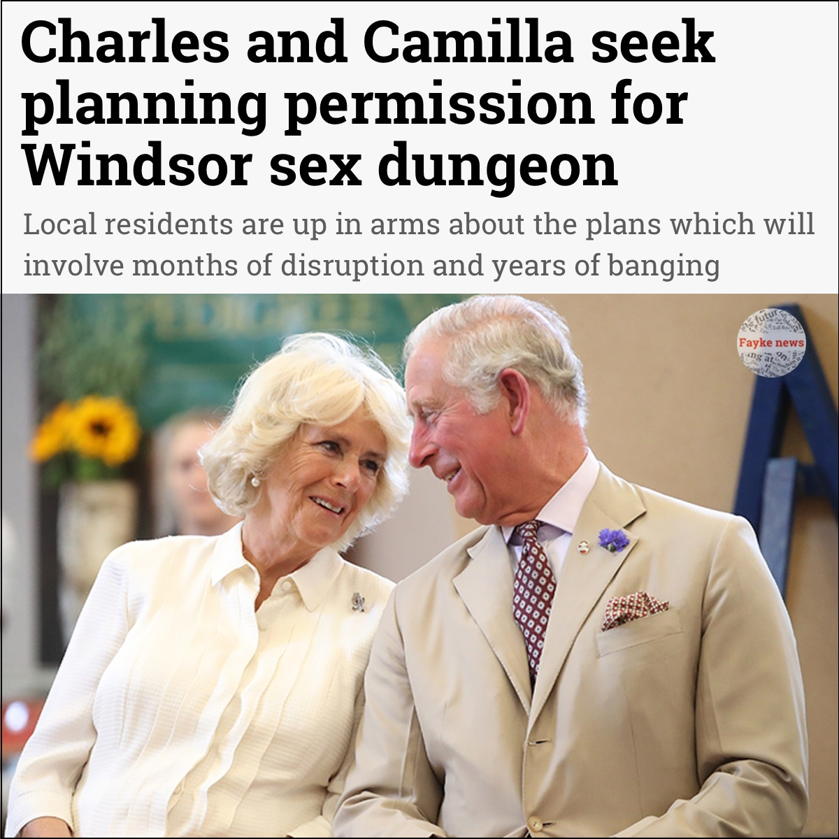 Charles Sex Dungeon Fake News Satire Meme Fayke News