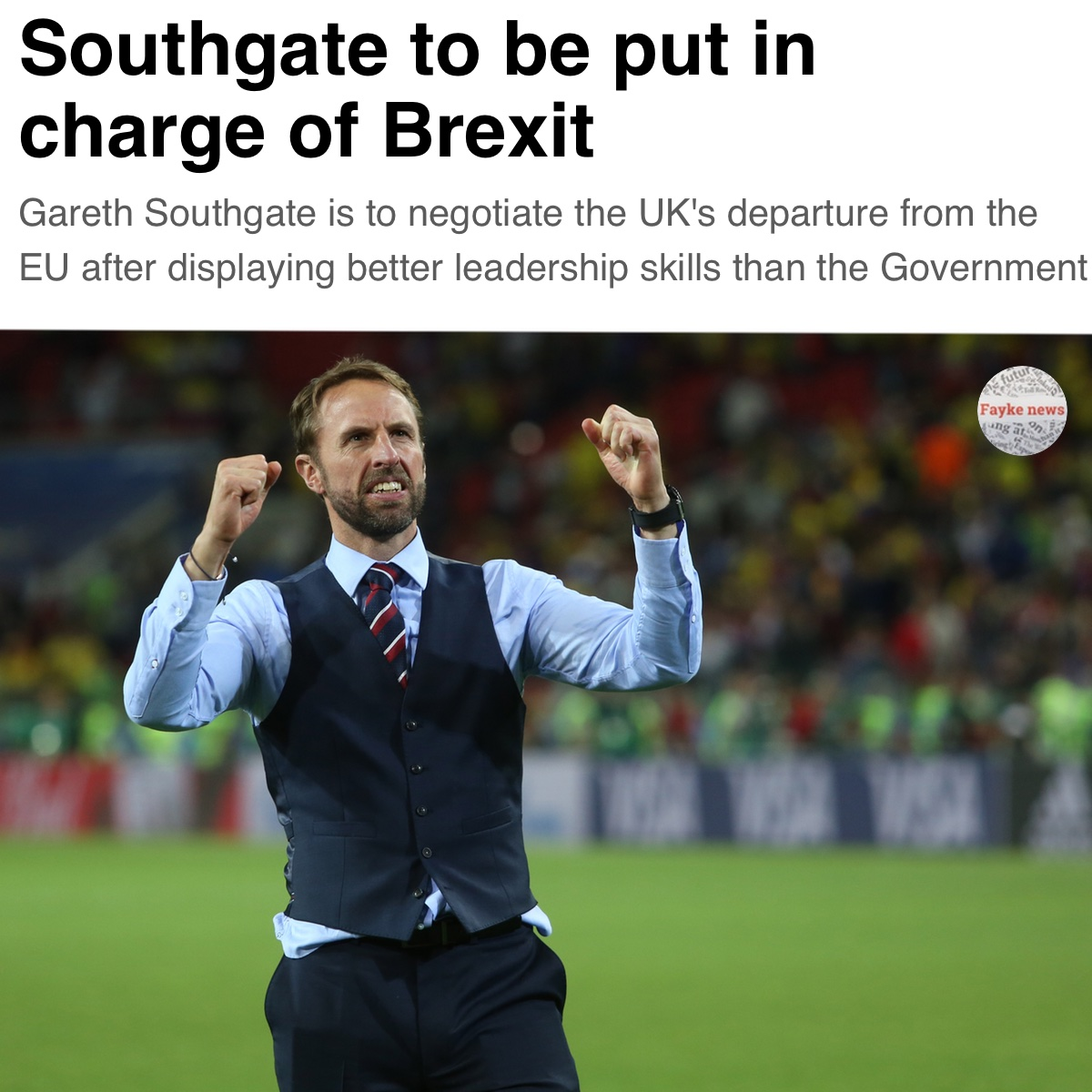 Southgate In Charge Of Brexit Fayke News
