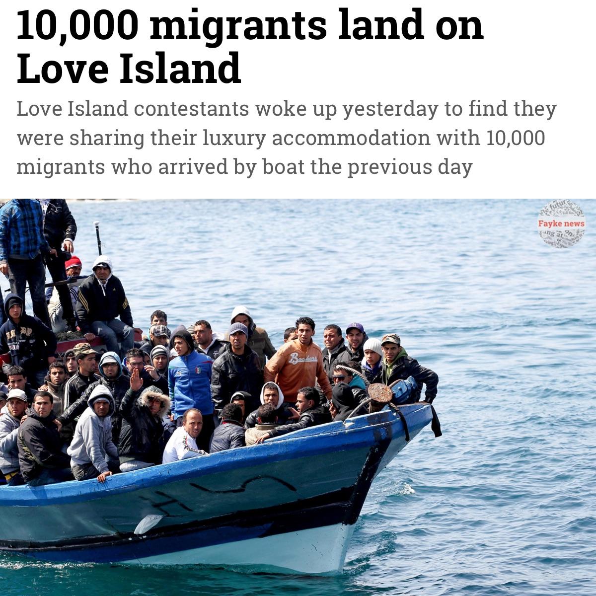 Migrants On Love Island Fake News Satire Meme Fayke News