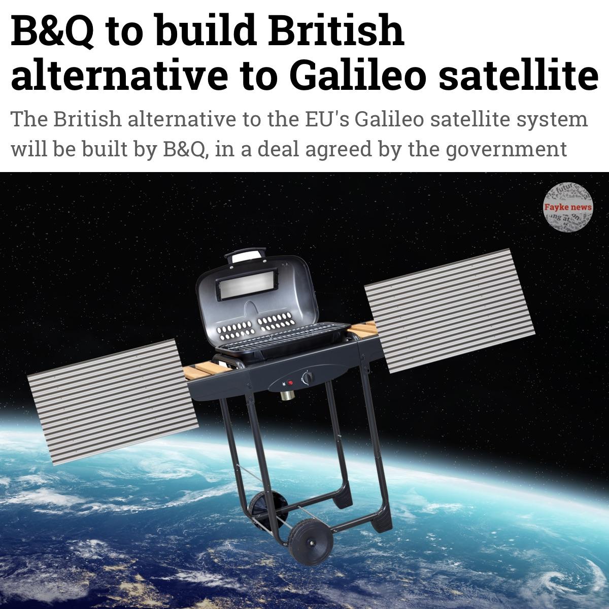 B Q Build Brexit Satellite Fake News Satire Meme Fayke News
