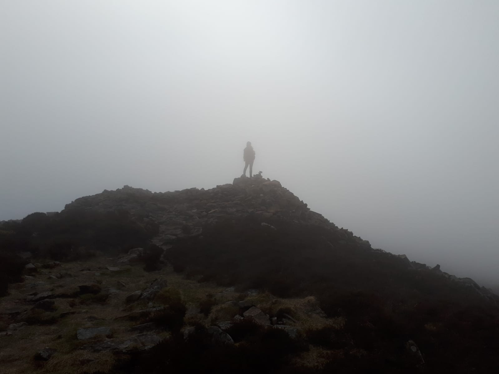 At the top on Tre'r Ceiri. Image by Rauni Higson