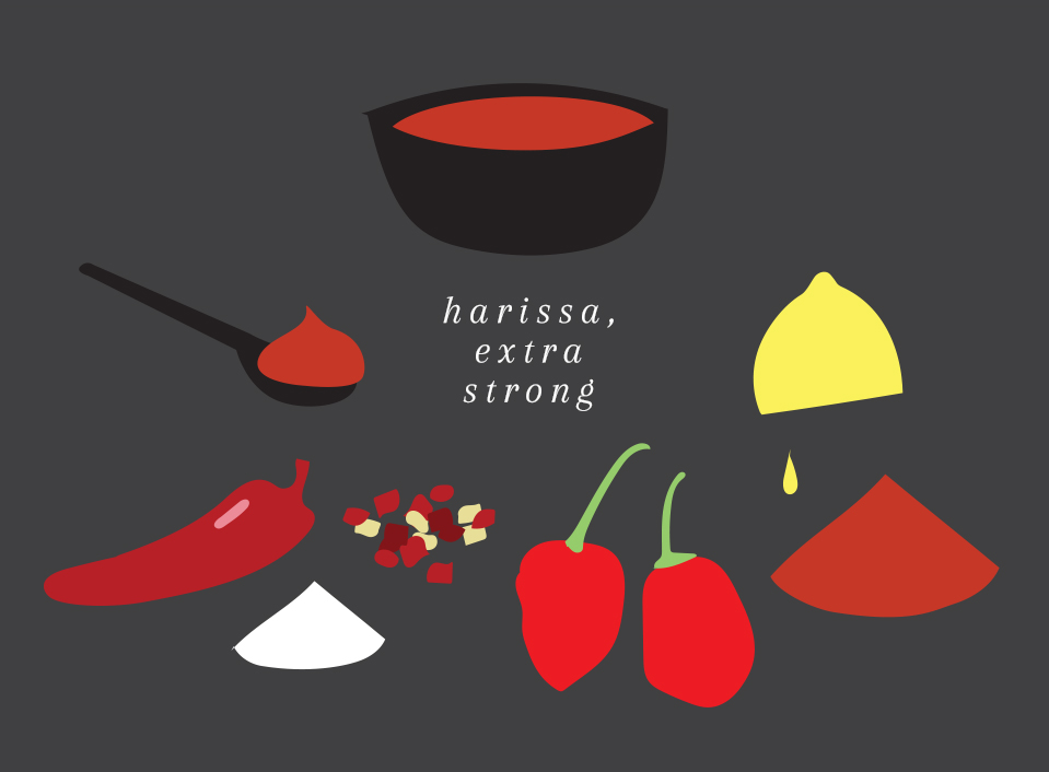 Harissa - extra strong   For those who want that extra kick.