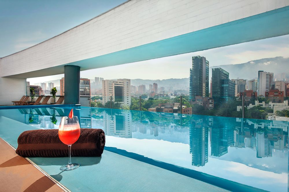 Rooftop Pool at the Hotel Sites 45 in Medellín