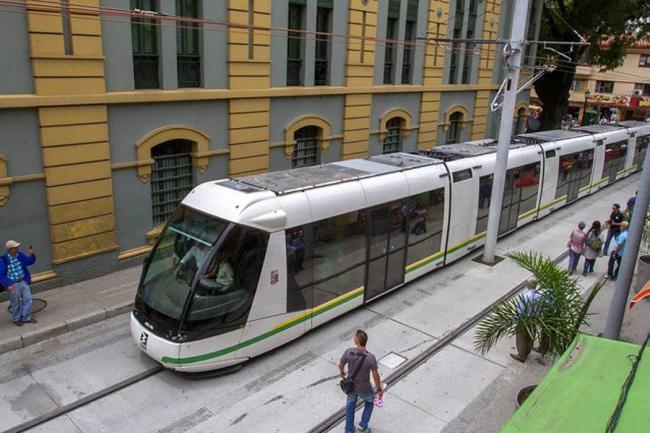 The tram in Medellín