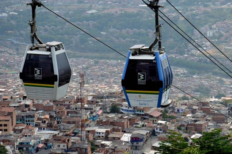 Metro cable in Medellín