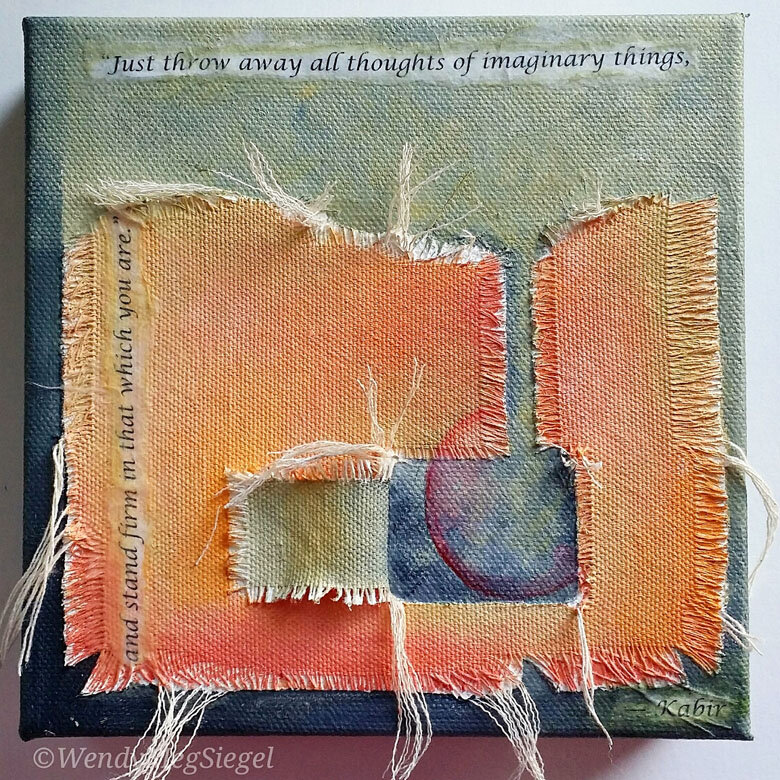 """The Release"" 6"" x 6"" mixed media on canvas"