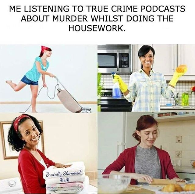 We feel personally attacked by this relatable content 😂😂 . . . . . #truecrime #podcasts #truecrimecommunity #truecrimepodcast #podcastcommunity #relatable