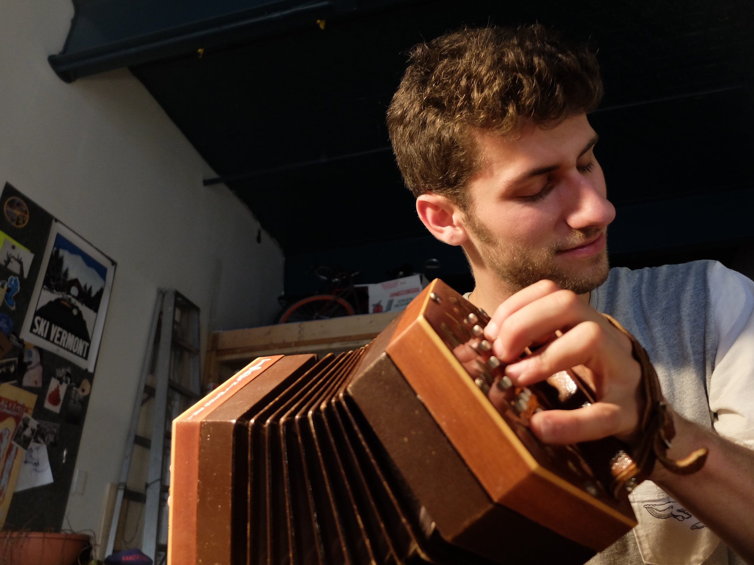 Concertina - The anglo concertina is a cross between the english concertina and german concertina. It is normally used to play traditional English and Irish music. But it has a nostalgic old time waltz feel to it as well.