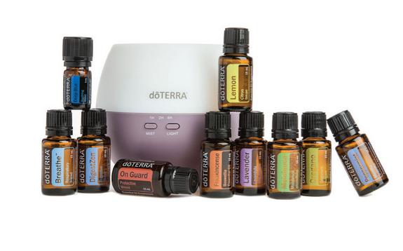 HOME ESSENTIALS KIT - ESSENTIAL OILS: (15 mL) • Frankincense • Lavender • Lemon • Melaleuca • Oregano • PeppermintESSENTIAL OIL BLENDS: (15 mL) • doTERRA Breathe® • Deep Blue® (5mL) • DigestZen® • doTERRA OnGuard®OTHER PRODUCTS: Petal Diffuser doTERRA Essentials Booklet€271.80 | SAVE €67.95