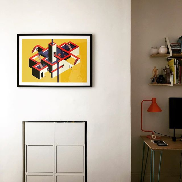Finally got round to putting up our biggest and boldest print yet (thank you @valeriamontesoro 😘), what a difference it makes to the mood of the room. . If you'd like one of these limited edition /50 giclée print, click on the link in the photo. For deliveries outside of the UK, please email us hello@thehouseofmischief.com and we'll get that sorted for you. . . #instaillustration #geometricillustration #colours #boldcolours #wallartprint #wallartdecor #londonartist #thehouseofmischief #thom #addcolour #yellowart #gicleeprint #affordableart #artoftheday #artoninstagram #colourmyhome #brightboldhome #colourmyhome #newinteriorsontheblock #rockmyvibe #stopandstaredecor #myboldhues #colourfulhome #buylocalart